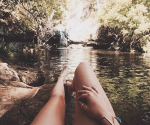nature, relax, and river image