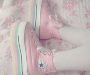 converse, girl, and girly image