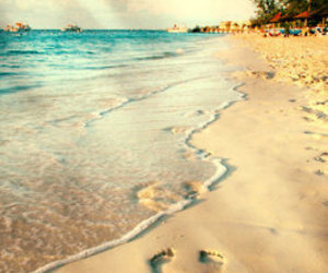 beach and footprints image