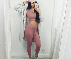 clothing, pink, and style image