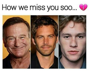 actor, paul walker, and robin williams image