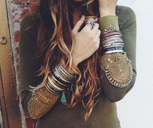 hair, style, and bracelet image