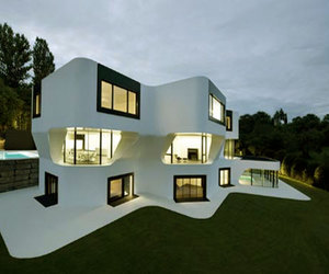 beautiful, house, and white image