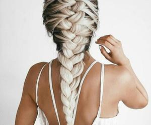 braids, long hair, and girl image