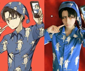 cosplay, anime, and levi image