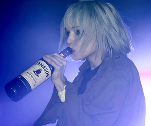grunge, Alice Glass, and alcohol image