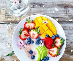 healthy, blueberry, and breakfast image