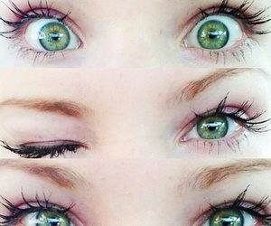 eyes, green, and dove cameron image