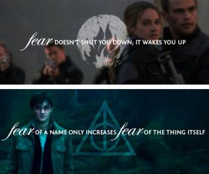 divergent, harry potter, and fear image