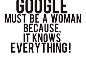 google, woman, and text image