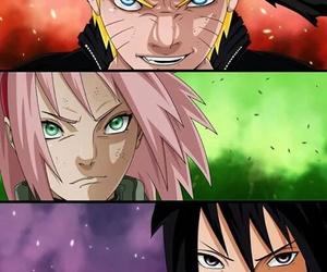naruto, sasuke, and sakura haruno image