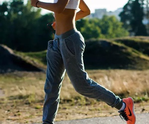 fitness, run, and nike image
