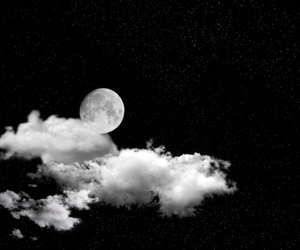 clouds, dark, and moon image