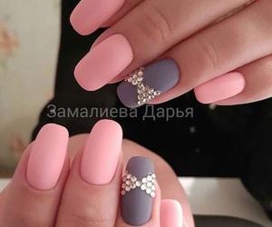 art, nails, and pink image