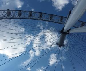 adventure, london eye, and sky image