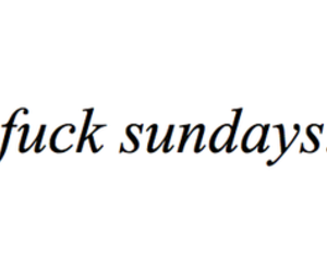 text and Sunday image