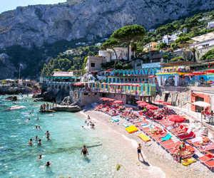 capri, holiday, and italy image