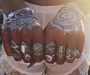 boho, fashion, and rings image