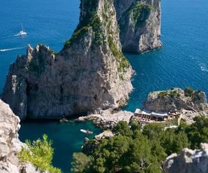 boats, capri, and hotel image