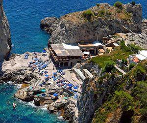 boats, capri, and sea image
