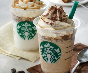 coffee, starbucks, and food image