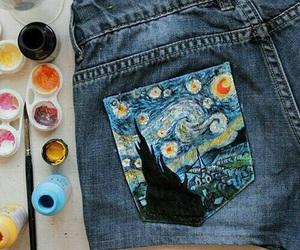 art, shorts, and paint image