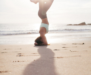 yoga and beach image