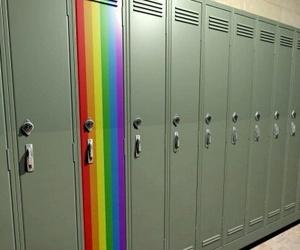 rainbow, locker, and gay image