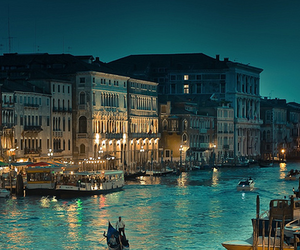 city, venice, and boat image