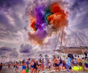 beach, colour, and electronic music image