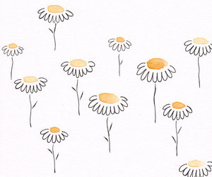 flowers, art, and daisy image