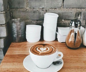 coffee, lecker, and heart image
