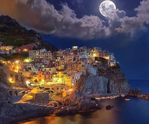 travel, moon, and italy image