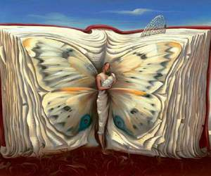 salvador dali, surrealism, and butterfly book image