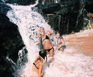 friendship, water, and friends image