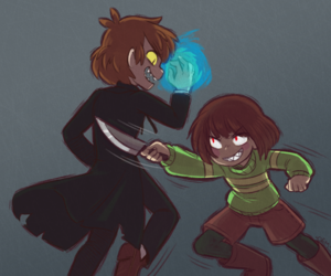 crossover, chara, and bipper image