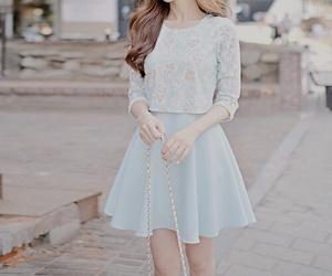 fashion, blue, and skirt image