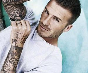 tattoo, David Beckham, and sexy image