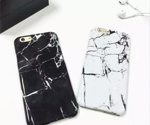 iphone, marble, and white image