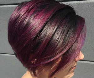 cool, purple hair, and pretty hair styles image