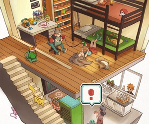 pokemon and house image