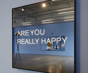 happy, quotes, and mirror image