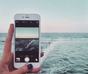 beach, iphone, and loving image
