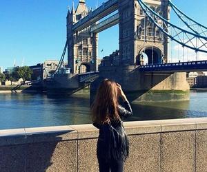 girl, london, and brown hair image