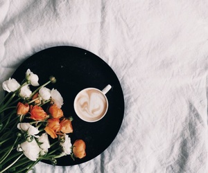 coffe, drink, and flowers image
