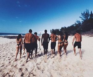 beach, bikinis, and booty image