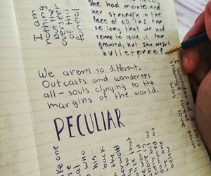 books, writing, and miss peregrine image