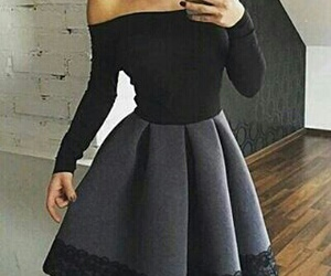 dress, black, and outfit image