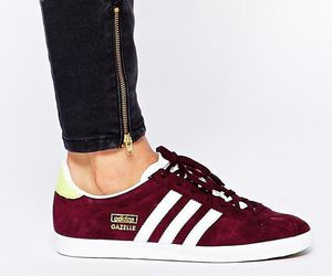 adidas, shoes, and burgundy image