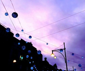 sky, purple, and light image